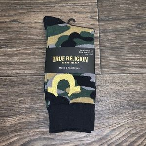 True Religion Crew Socks